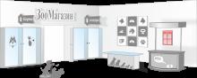 Информационный стенд для «Зоомагазина»