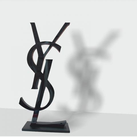 Объемные буквы YSL