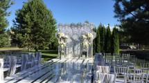 Оформление сцены для свадебной церемонии